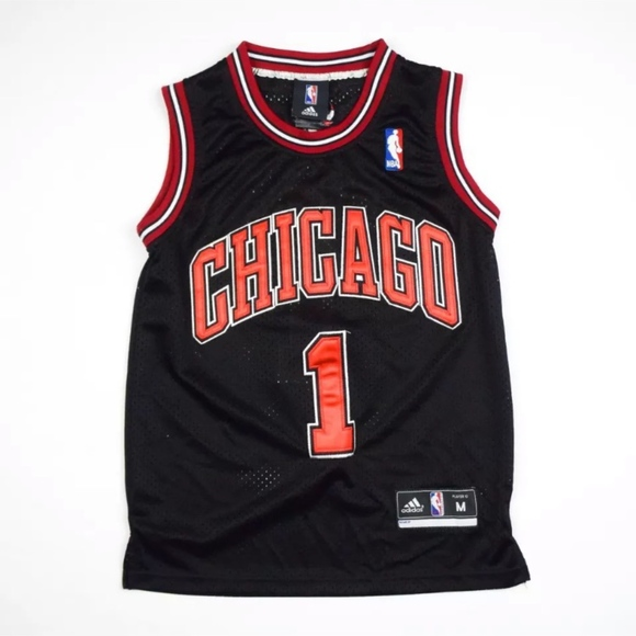quality design ffe26 5a9df Chicago Bulls Derrick Rose #1 Jersey NBA Youth Med